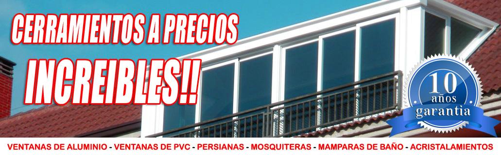 Mejor oferta en cerramientos de terrazas balcones patios for Cerramientos aluminio precios